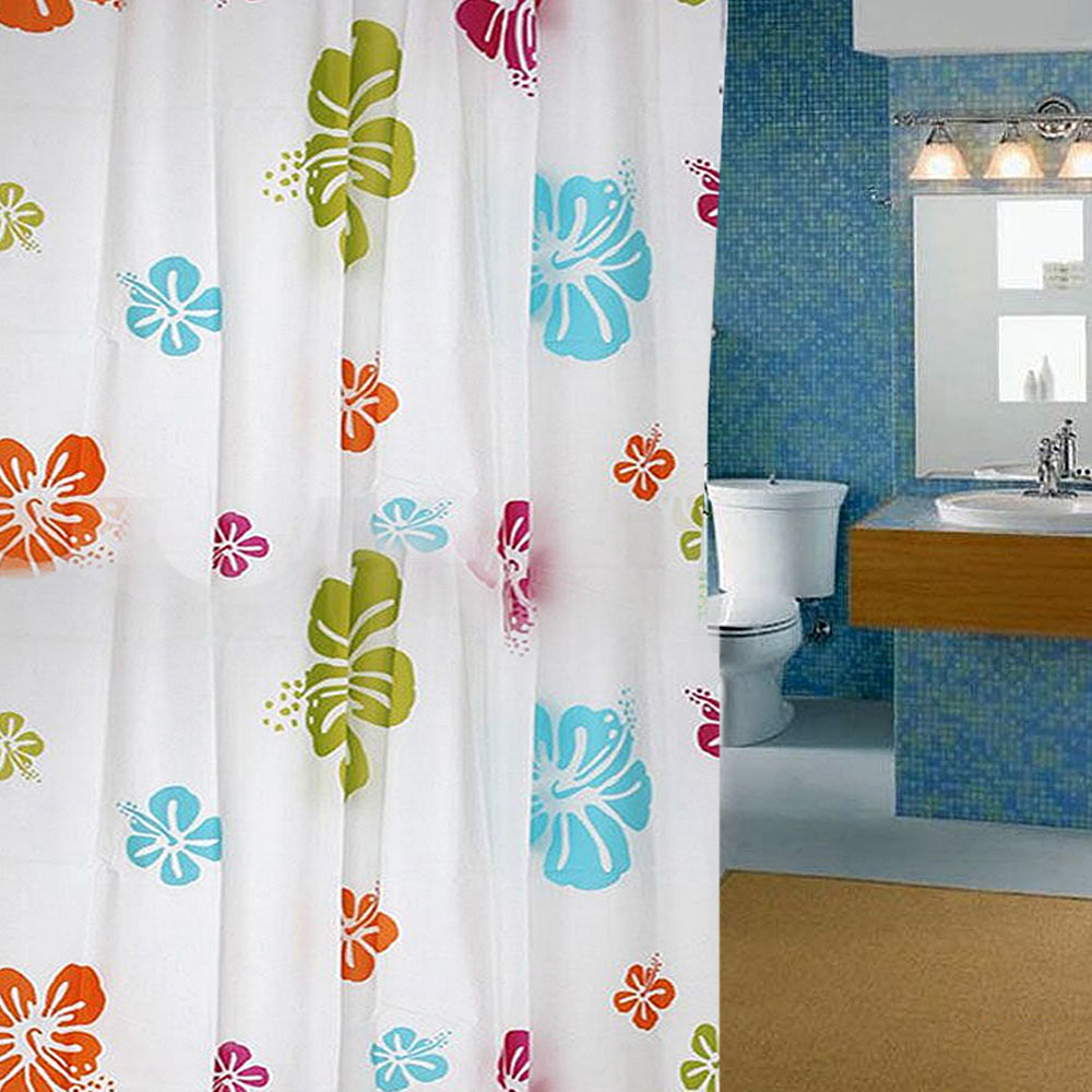 4 Colours Extra Long Waterline Bathroom Plain Shower Curtain Matching In Curtains From Home Garden On Aliexpress