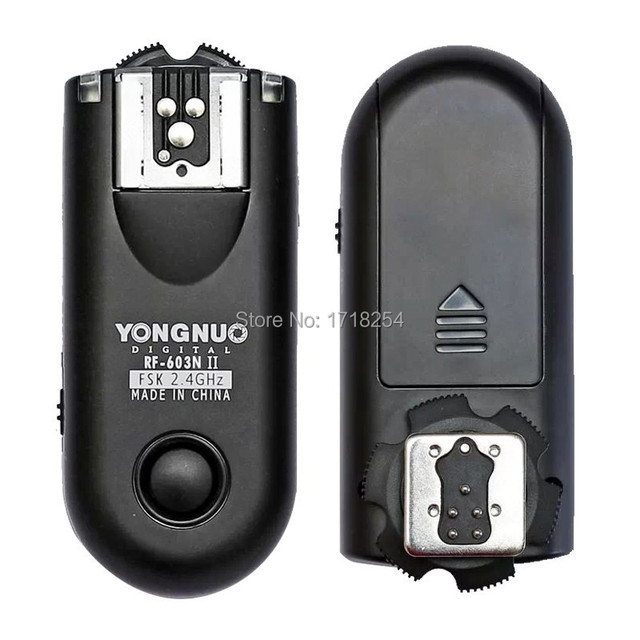 Yongnuo RF 603 II C1 ، RF 603 II فلاش الزناد 2 أجهزة الإرسال والاستقبال لكانون 1000D/450D/400D/750D/760D/600D/500D/550D/650D/700D