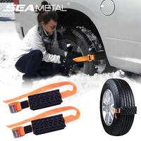 2pcs Car Snow Chains Snow Chains Universal Car Suit Tyre Winter Roadway Safety Auto Goods Tire Chains Snow Climbing Mud Ground