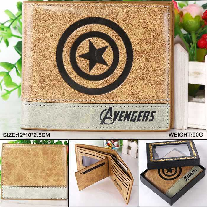 Marvel Comics The Avengers Captain America Wallet Bailini Purse Women Wallet Billeteras Mujer Carteras Men Wallet Package leeshang marvel captain america bi fold wallet dft 1007a for dft 1995 fold mini small wallet