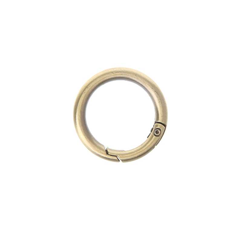 f01d6a9d7d47 ... THINKTHENDO Metal New Small Round Ring Circle Spring Snap For DIY  Keyring Hook Bag Buckle Handbag