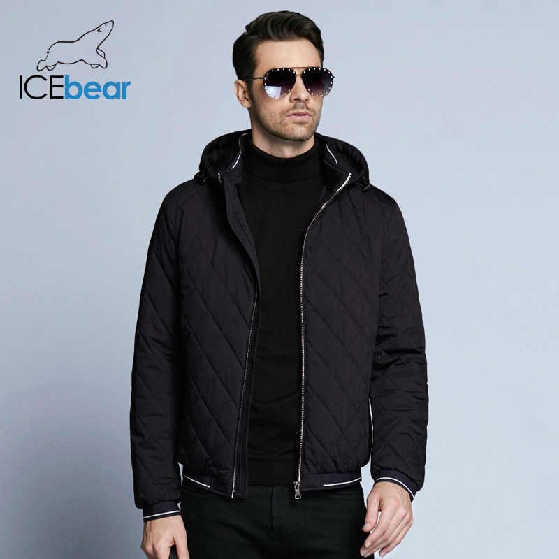 ICEbear 2019 חדש סתיו גברים של כותנה קלאסי צמר עיצוב מעילי כובע להסרה אופנה גבר מעיל BMWC18032D
