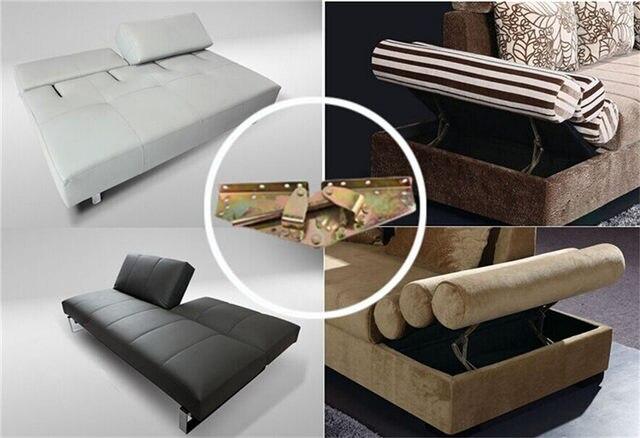 Electric Adjule Three Fold Sofa Bed Mechanism Metal Support Hinge 140 Degree