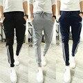 Ropa 2016 pantalones de chándal ocio tiempo Delgado Borde de la raya Del Todo-Fósforo yeezy boost joggers pantalones pantalon homme gymshark