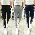 clothing 2016 sweatpants leisure time Slim All-match Edge stripe yeezy boost joggers pantalon homme gymshark pants