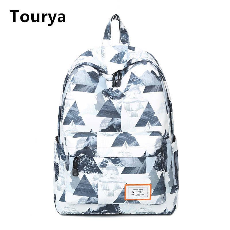 цены Tourya Casual Women Backpack School Backpacks Bags Bookbag for Teenagers Girls Laptop Backbag Travel Daypack Mochila Feminina