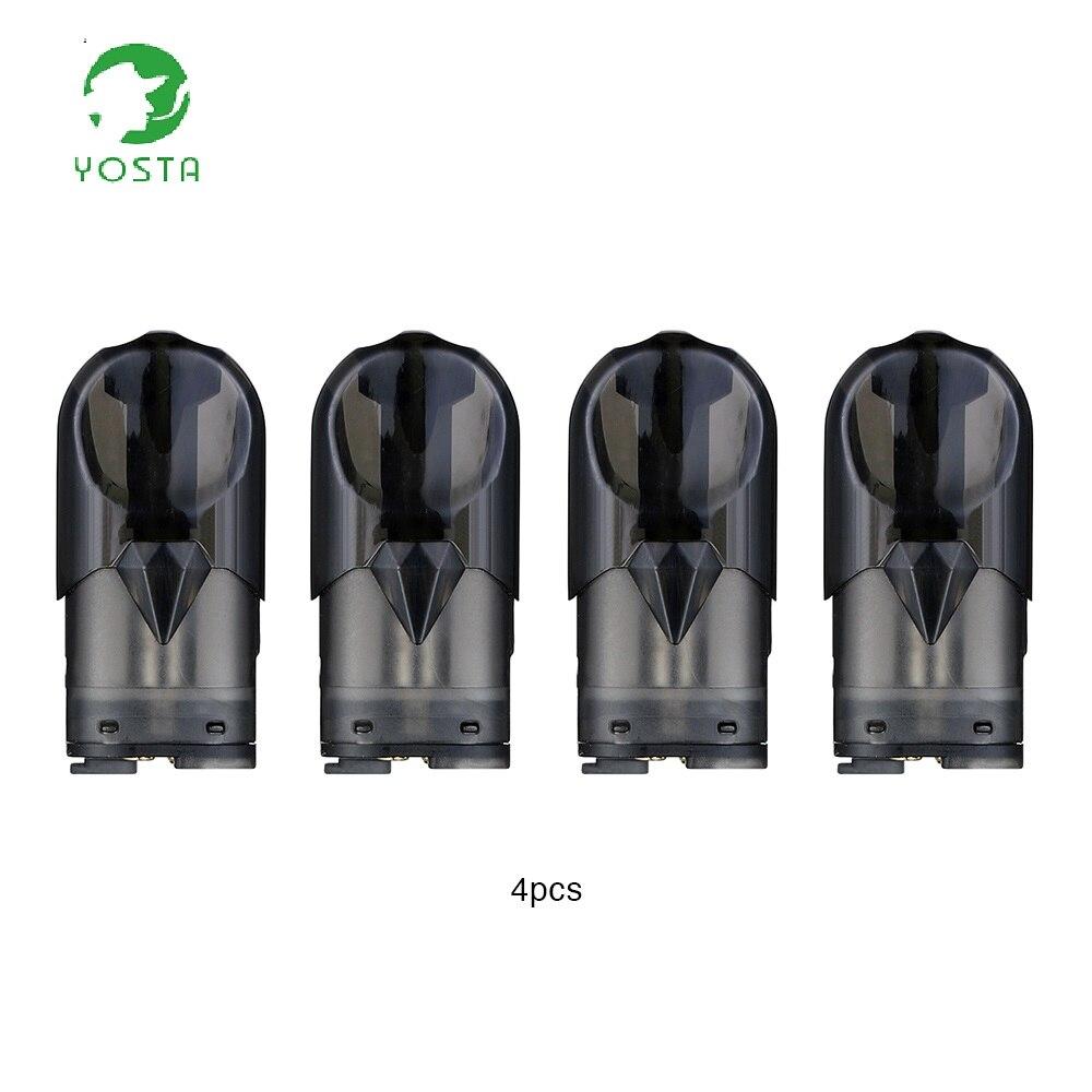 Electronic Cigarette Atomizers Electronic Cigarettes 4pcs/pack Yosta Ypod Mini Pod Cartridge 1ml Capacity With 1.3ohm Ceramic Coil For Yosta Ypod Mini Pod Kit E-cig Vape Spare Part