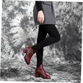 Womens Warm Velvet Winter Skinny Slim Leggings Stretch Pants Thick Footless Knitted Thick Slim Fitness Super Elastic