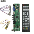 free shipping V56 Universal LCD TV Controller Driver Board PC/VGA/HDMI/USB Interface+7 key board+ 1 lamp inverter