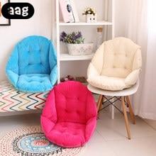 Soft Plush Thicken Chair Cushion Seat Pad Shell Design Lumbar Back Support Cushion Pillow for Home