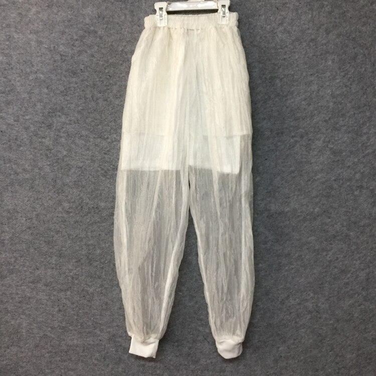 D'origine Haren Fil Pantalon Lâche Petit Transparent Pied Designer Blanc Homme Eugen Fold c3LAq54jR