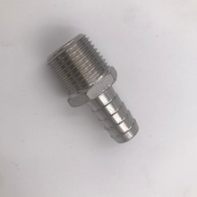 Stainless Steel Hose Barb - 1/2 Male BSP x 1/2Barb, Brewer Hardware, Homebrew Pump fitting
