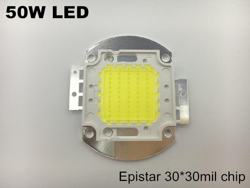 50 W LED module diode cob LED épistar ampoule tube projecteur source de lumière 5000lm 30-33 v 1500ma couleur blanc blanc blanc chaud