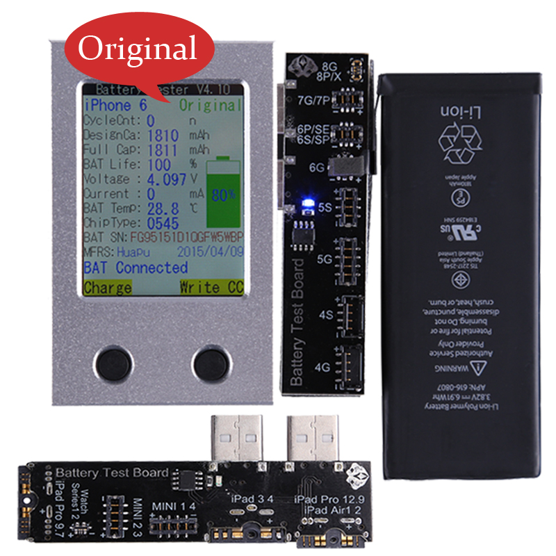 Phone Repair Tools For iPhone Battery Tester X 8 8P 7 7P 6 6P 6S 6SP 5 5S SE 4 4S Battery Tester a Key Clear Cycle