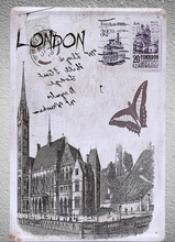 1 pc London Historical Castle  Tin Plate Sign wall plaques Man cave vintage Dropshipping metal Poster