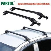 Partol Universal 100CM Car Roof Racks Cross Bars Crossbars With Anti Theft Lock 60kg 132LBS Cargo