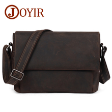 JOYIR Genuine Leather Casual Men bag 13 Laptop Briefcases Crossbody New Fashion Travel Shoulder Bag Messenger