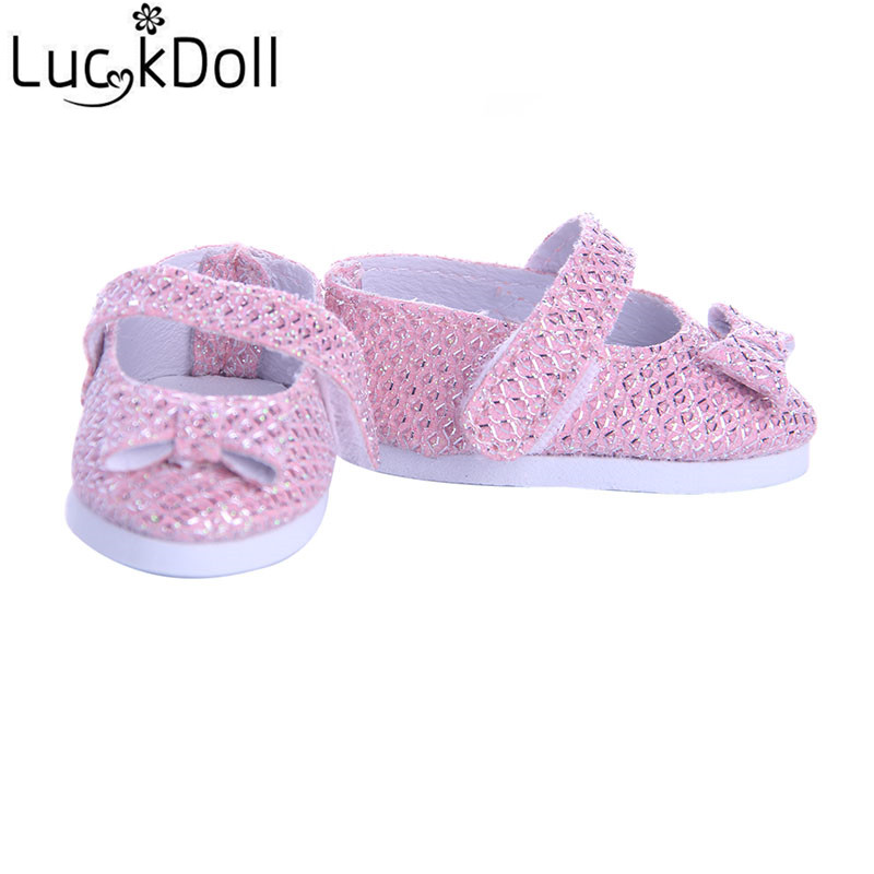 LUCKDOLL Fashion Shoes For 14.5-inch  Dolls Wellie Wishers Clothes Accessories, Girl's Toys, Generation, Birthday Gift