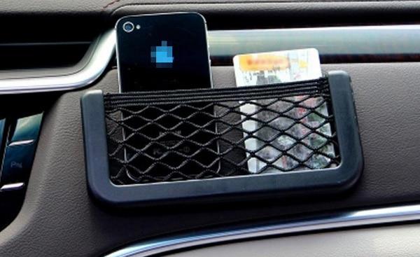 Universal car seat side elasticized net pocket car phone for Mercedes benz phone cradle
