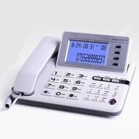 High quality Business fixed Phone Caller ID Telephone PBX Office Phone home landline black coffee mute big LED screen