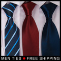 21 colors Mens Silk tie 1pc retail Men's formal ties for Wedding groom Business Suit Dress tie Wholesale Free shipping