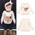 Hoodies Meninas Do Bebê criança Crianças Animal Dos Desenhos Animados Fox Impresso Camisola Morna Moda Top Roupas das Crianças