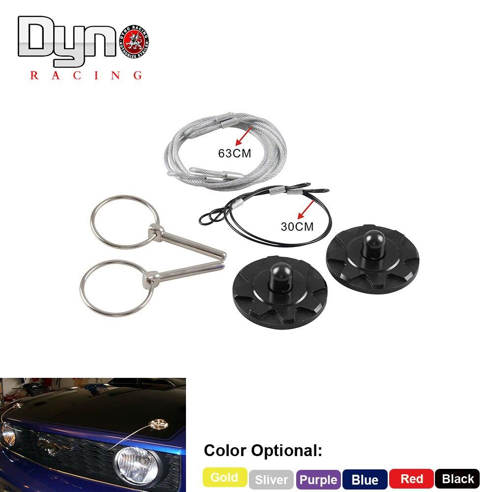Universal Racing Hood Pin Appearance Kit CNC Billet Aluminum Black Hood Lock