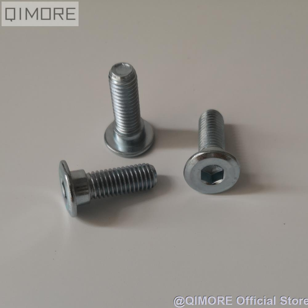 3 Pieces Of Scooter Brake Rotor Brake Disc Bolt / Screw M8x25 (with 10mm Step)