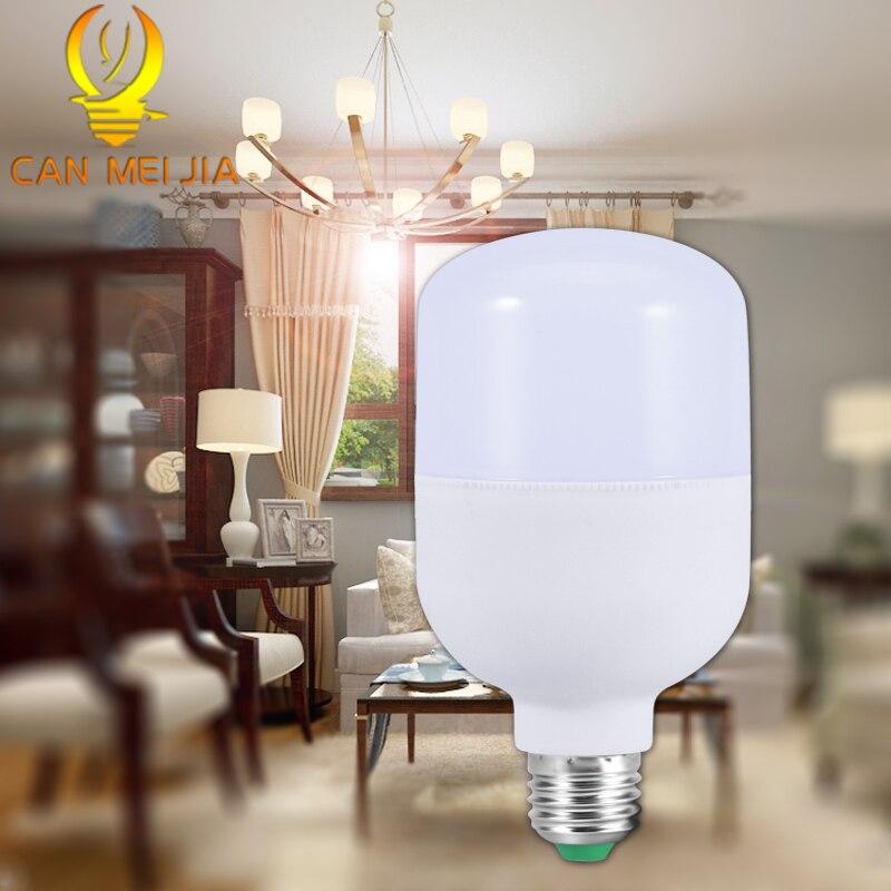 Beau Potente Bombilla LED E27 5 W 10 W 15 W 20 W 30 W 50 W Lámpara De Ahorro De  Energía Luces Led Con Ampolla De 220 V Para Iluminación Blanca Para El Hogar