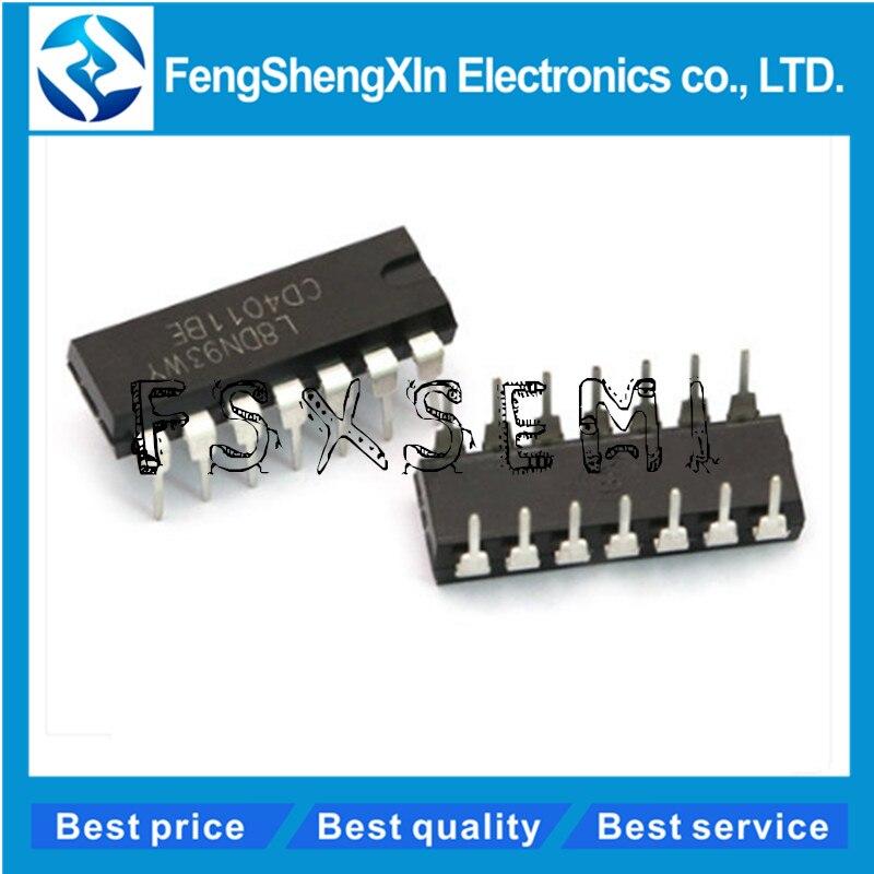 10 pçs/lote CD4011BE DIP-14 CD4011 TC4011BP CMOS NAND GATES IC