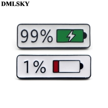 DMLSKY Cartoon Pins Enamel and Brooches Women Men Lapel Pin Backpack Badge Tie Hat Jewelry M3714