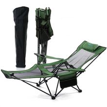 2019 High quality outdoor folding portable sitting and lying dual-use beach fishing leisure nap lounge chair
