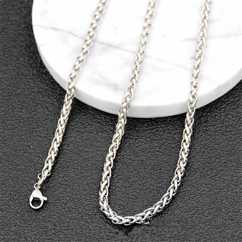 Wholesale 316L Stainless Steel 3MM Keel Chain Necklace Fashion Party Men's Jewelry Length 50-70CM drop shipping