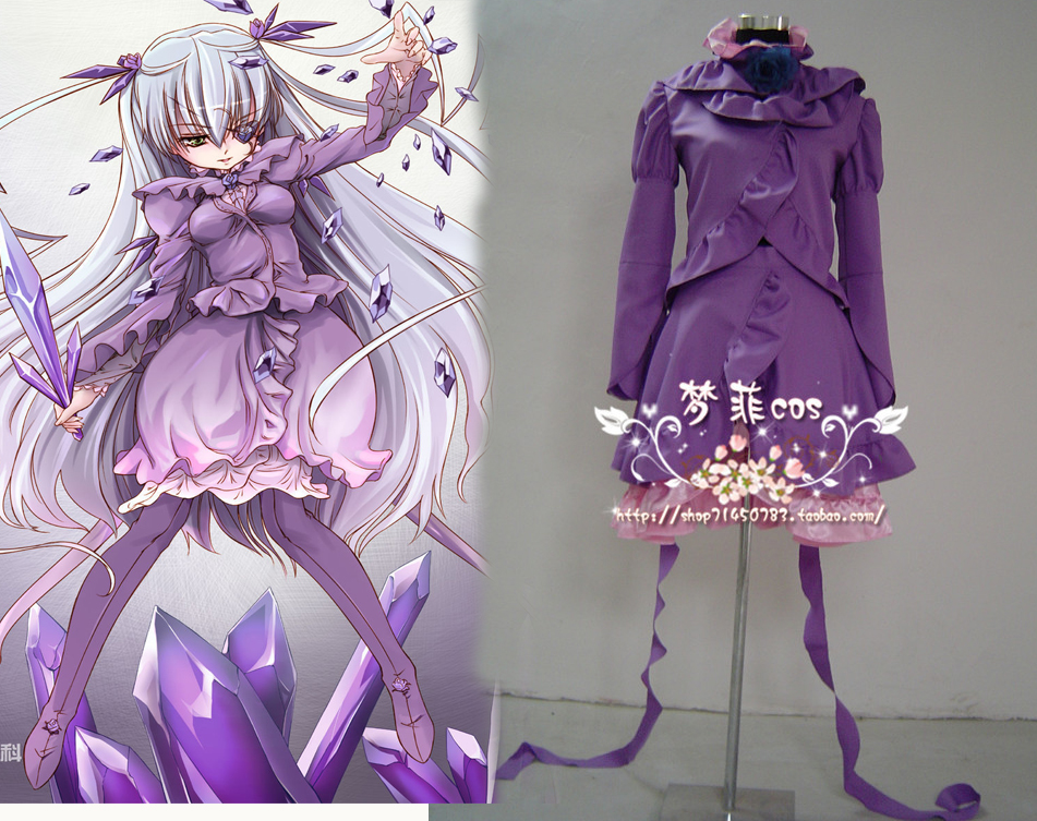 Rozen Maiden Barasuishou new cosplay costume purple dress