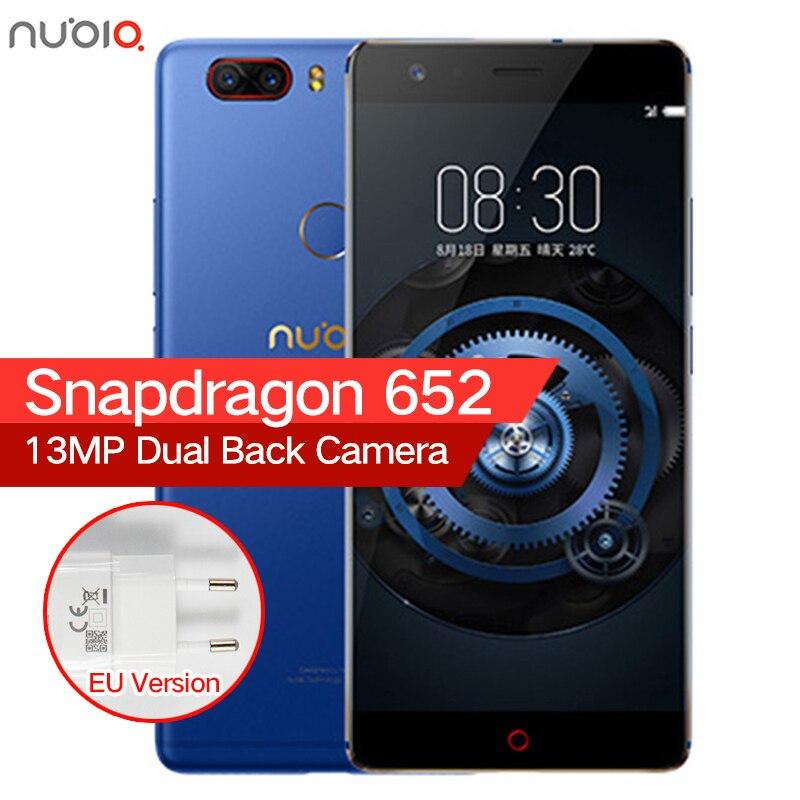 Ursprüngliche ZTE Nubia Z17 Lite Randlose 6 GB RAM 64/128 GB ROM Handy Snapdragon 653 Octa-core 5,5