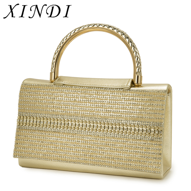 XINDI Vintage Bag for Women clutch crystal