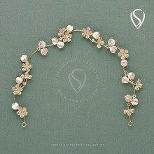Flower Wedding Hair Vine Band Crystal Headband Bridal Jewelry Headpieces -  Women Hair Accessories Party Prom a6eb03838b89