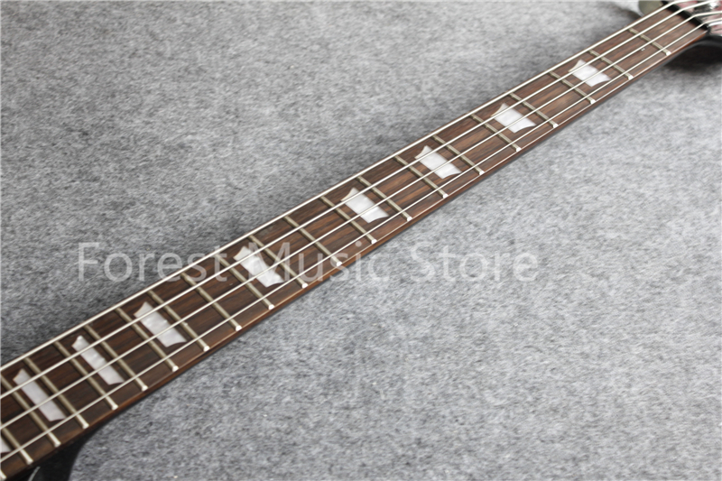 High Quality Black Glossy Suneye SG Electric Bass Guitar China OEM Custom 4 String Bass Guitar As Picture