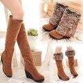 Mujeres Botas de Nieve Botas de Invierno Del Tobillo Casual Brand Invierno Zapatos Para Mujer cuñas de Piel de Felpa Caliente patea Los Zapatos más el tamaño 34 a 43