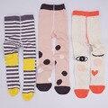 Nueva moda de alta calidad de algodón de las medias de las niñas les encanta rayas dot imprimir warm niños pantimedias 0-6 T