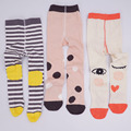 high quality new fashion cotton kids tights for girls love striped dot print warm pantyhose children 0-6T