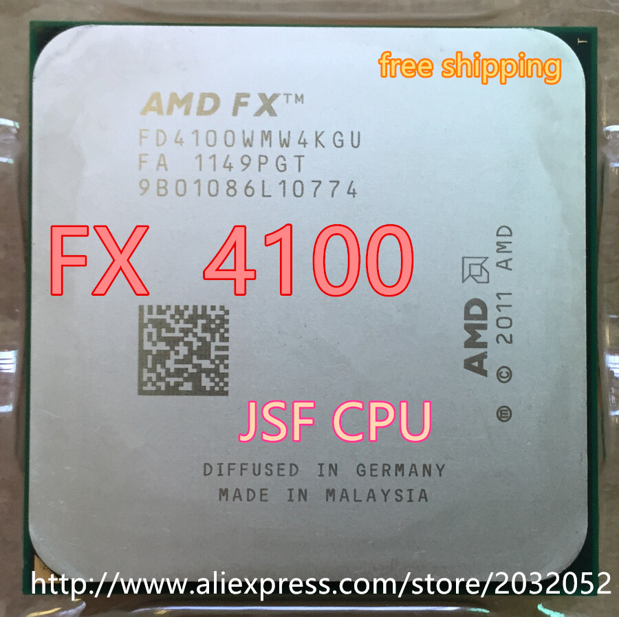 AMD FX 4100 AM3+ 3.6GHz 8MB CPU Processor FX Serial Shipping Free Scrattered Pieces FX-4100 FX4100 (FX Serial Cpu)