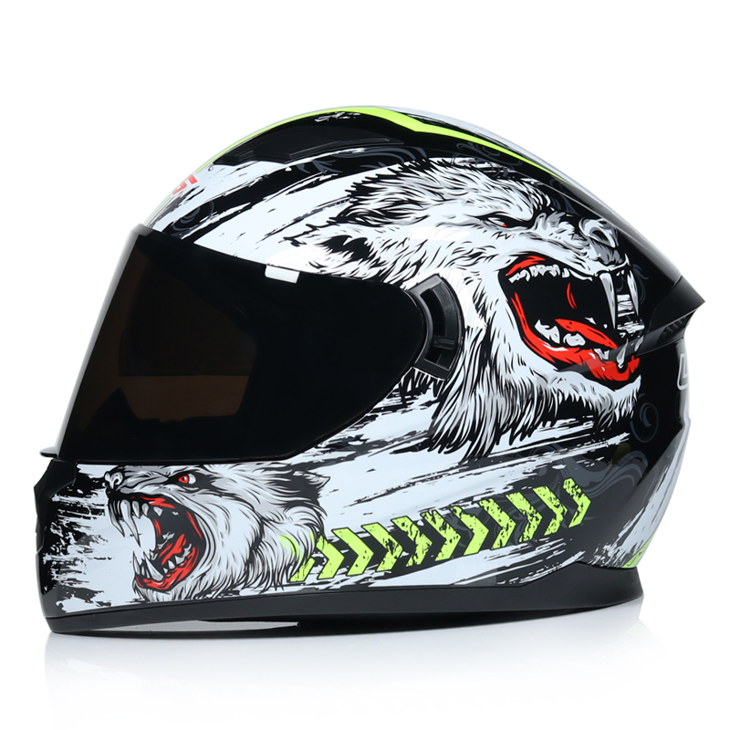 Best Sales DOT Approved Safety Motorcycle Helmets Full Face Dual Lens Racing Helmet Strong Resistance Off