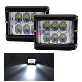 1 pair 3 Side Shot Pod Cubes LED's Spot Driving Fog Light Off Road Led Lights Bar Mounting Bracket.
