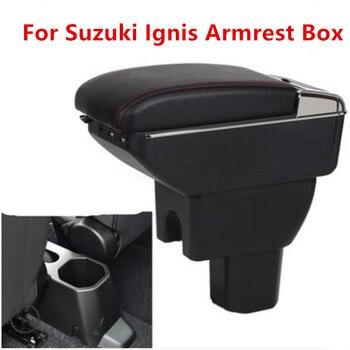 Dla Suzuki Ignis podłokietnik ze schowkiem główny schowek w podłokietniku w samochodzie uchwyt na kubek popielniczka akcesoria do modyfikacji