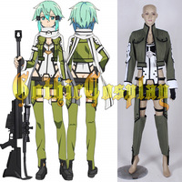 Greed Customizable Japanese Anime Sword Art Online Sinon Cosplay Costume