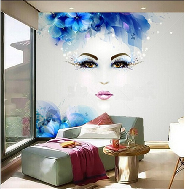 Le ultime 3d murales, bella pittura astratta donne con disegno astratto,  soggiorno camera da letto divano tv sfondo muro di carta