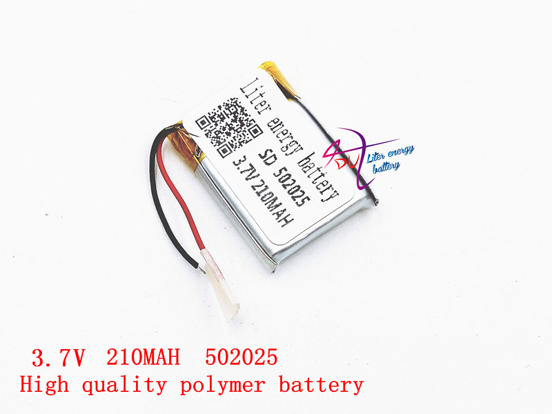 3.7V 210mah 502025 Liter energy battery Lithium polymer Battery With Protection Board For MP3 MP4 MP5 GPS Digital Products liter energy battery 3 7v polymer lithium battery 401215 mp3 mp4 60mah bluetooth headset small toy sound