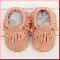 Envío Libre Zapatos de Bebé de La Manera 100% Cuero Genuino de La Borla de Bebé Zapatos de Suela Suave Prewalker