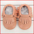 Free Shipping Baby Fashion Shoes 100% Genuine Leather Baby Tassel Shoes Soft Sole Prewalker